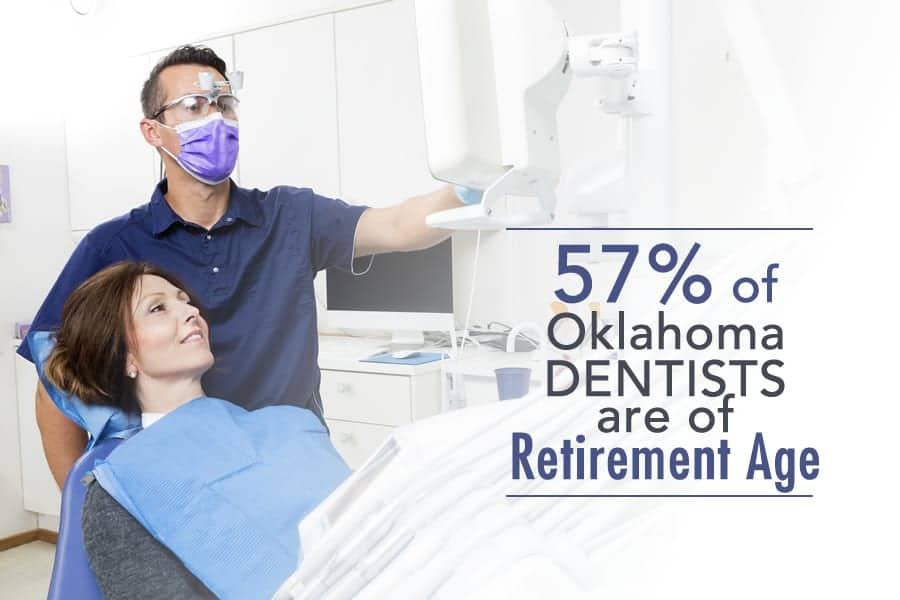 Over Half of Oklahoma Dentists are of Retirement Age